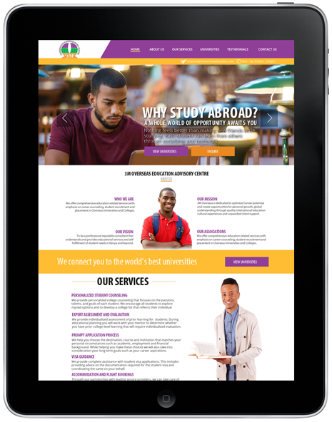 3m-overseas-education-website design nairobi