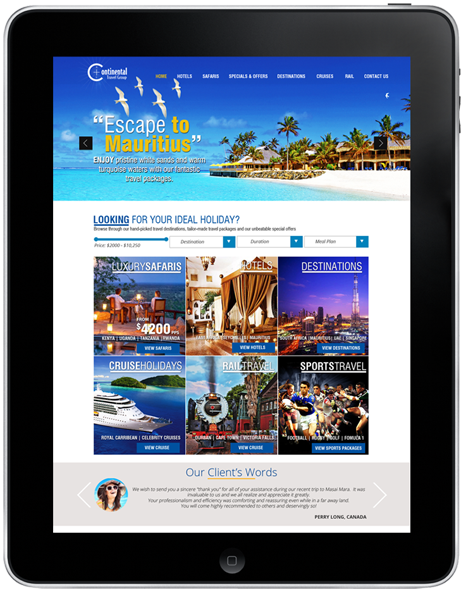 continental-travel-group-website